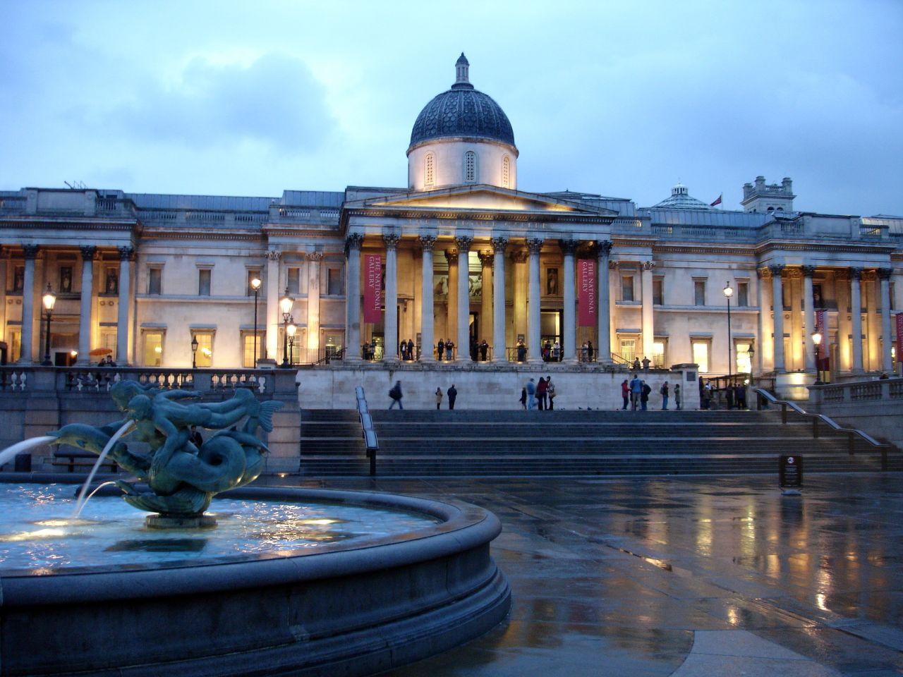 трафальгарская площадь в лондоне картинка